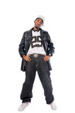 Cool hip-hop young man on white Stock Photos