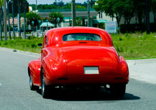 Cool Hot Rod. Rear view of a very cool bright red hot rod Royalty Free Stock Photos