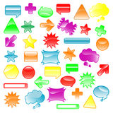 Cool icons. Vector illustration of a set of colorful icons Royalty Free Stock Images