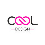 Cool infinity vector logo. Illustration isolated on white background Stock Photo