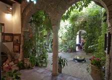 Cool interior courtyard in Cordoba, Spain Stock Images