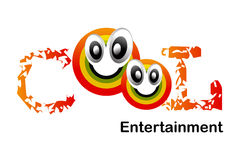 Cool Intertainment Logo. Logo Design for Intertainment agency Royalty Free Stock Images