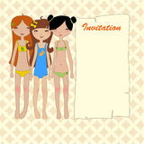 Cool invitation frame Stock Images