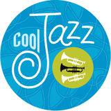 Cool Jazz Trumpets. Hot jazz, cool jazz, the trumpets play on! Horn player or not, show the world where you stand with this unique, custom design by Jazz: Cool Stock Image