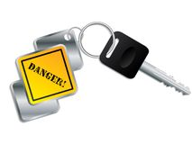 Cool keyholder with key Royalty Free Stock Images