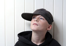 Cool kid. Boy with a black cap Stock Photo