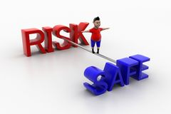 Cool Kid balancing through Risk And Safe Side Royalty Free Stock Images