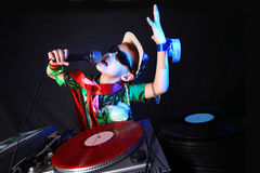 Cool Kid DJ Royalty Free Stock Photo
