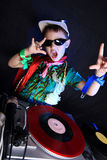Cool kid DJ Stock Photo