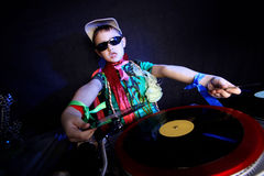 Cool kid DJ Stock Photo