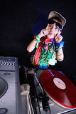 Cool kid DJ Royalty Free Stock Photos