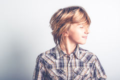 Cool kid with long hair Royalty Free Stock Images