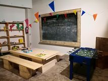 Cool kindergarten design and concept. stock photography