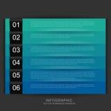 Cool kolory liczących sztandary Obraz Royalty Free