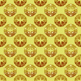 Cool lace yellow brown blossom  pattern Stock Images