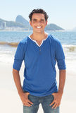 Cool latin guy at Copacabana beach at Rio de Janeiro Royalty Free Stock Photography