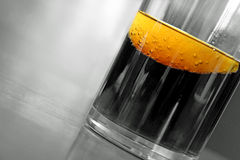 Cool lemon slice drink Stock Photo