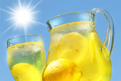Cool lemonade. On a hot summer day Stock Photography
