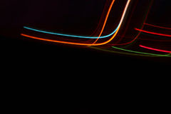 Cool Lights In Motion Abstract. Creative concept on black background Stock Image