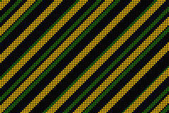 Cool linear pattern in black green and yellow Stock Photography