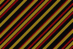 Cool linear pattern in black red and yellow Stock Photo