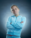 Cool litlle girl Royalty Free Stock Image