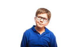 Cool little boy looking up Royalty Free Stock Photography