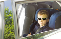 Cool little boy in sunglasses Stock Image
