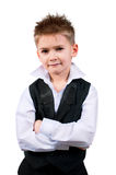 Cool little boy in a waistcoat Royalty Free Stock Image
