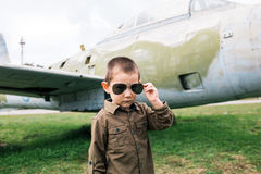 Cool little pilot Royalty Free Stock Image
