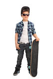 Cool little skater boy with sunglasses Stock Photography