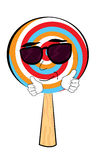 Cool Lollipop cartoon Stock Image