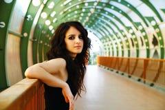 Cool look in footbridge Stock Photos