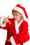 Cool looking Mrs. Santa Claus Stock Images