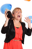 Cool looking party girl Royalty Free Stock Image