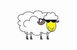 Cool looking sheep. An illustrations of not-your-average sheep Royalty Free Stock Photo