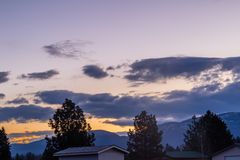 Sunrise over a famers field, Columbia, Montana, United States. A cool looking sunrise greets the early risers in columbia Montana Royalty Free Stock Photo