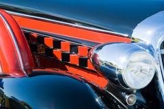 Headlamp on vintage motor car Stock Photo