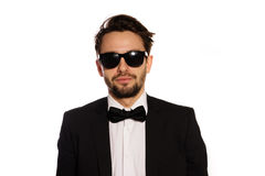 Cool macho businessman in sunglasses Stock Photo