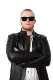 Cool macho man with sunglasses Royalty Free Stock Photography