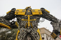 The cool and majestic Transformers in SHENZHEN Stock Images
