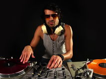 Cool male dj stock video