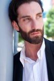 Cool male fashion model with beard Stock Photo