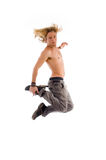 Cool male in jumping pose Stock Photo