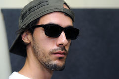 Cool male model with dark shades Royalty Free Stock Photos