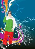 Cool man Stock Image