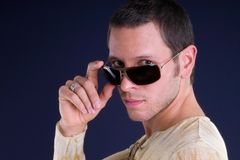 Cool man royalty free stock photography
