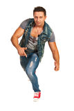 Cool man dancing Stock Photo