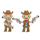 Cool man with a gun in wild West style Royalty Free Stock Image
