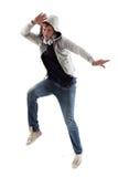 Cool Man Jumping Stock Photo